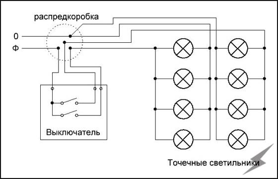 Схему для подключения led на 220в