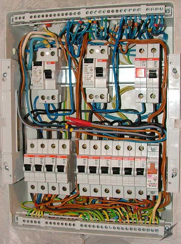 Электрический щиток с узо своими руками